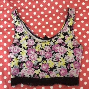 Forever 21 Lace Floral Crop Top